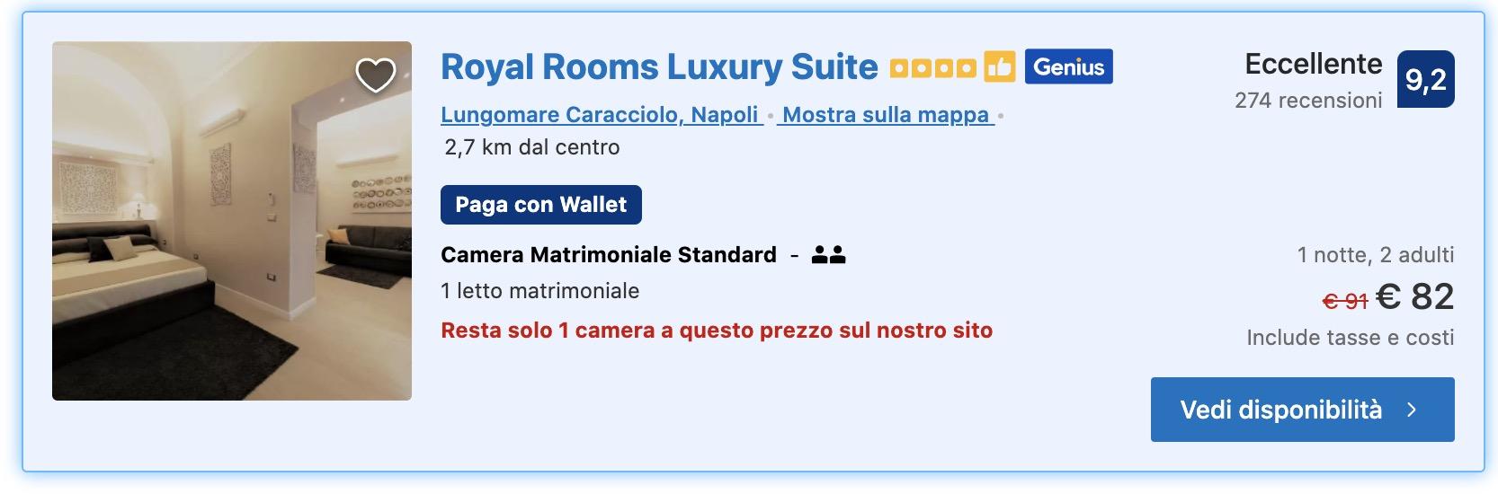 dormire a Napoli luxury suite